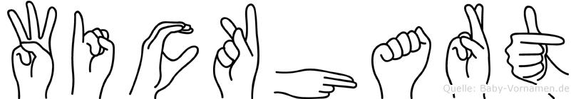 Wickhart in Fingersprache für Gehörlose