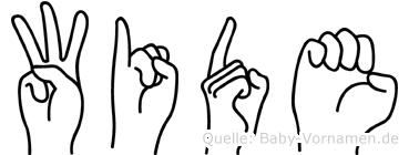 Wide im Fingeralphabet der Deutschen Gebärdensprache