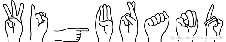 Wigbrand im Fingeralphabet der Deutschen Gebärdensprache