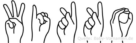 Wikko in Fingersprache für Gehörlose