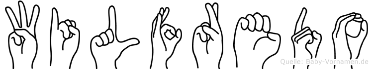Wilfredo im Fingeralphabet der Deutschen Gebärdensprache