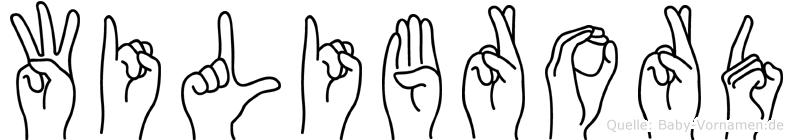 Wilibrord im Fingeralphabet der Deutschen Gebärdensprache