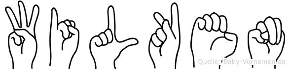 Wilken im Fingeralphabet der Deutschen Gebärdensprache