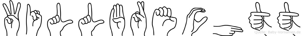 Willbrechtt in Fingersprache für Gehörlose