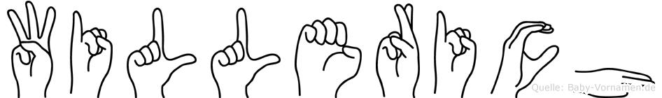 Willerich im Fingeralphabet der Deutschen Gebärdensprache