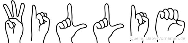 Willie in Fingersprache für Gehörlose