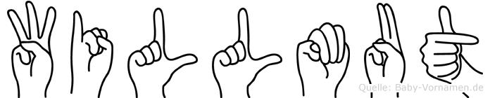 Willmut im Fingeralphabet der Deutschen Gebärdensprache