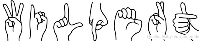 Wilpert in Fingersprache für Gehörlose