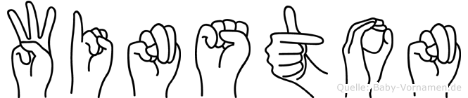 Winston im Fingeralphabet der Deutschen Gebärdensprache