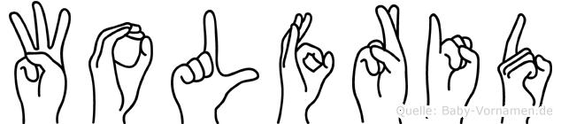 Wolfrid in Fingersprache für Gehörlose
