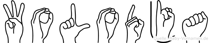 Wolodja im Fingeralphabet der Deutschen Gebärdensprache