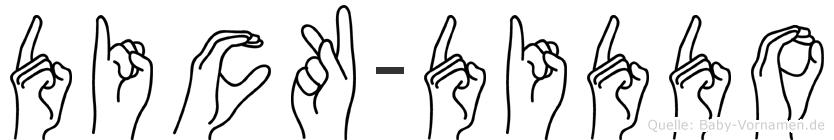 Dick-Diddo im Fingeralphabet der Deutschen Gebärdensprache