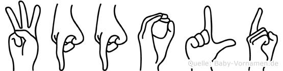 Wppold im Fingeralphabet der Deutschen Gebärdensprache