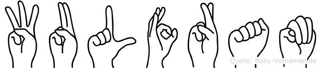 Wulfram im Fingeralphabet der Deutschen Gebärdensprache