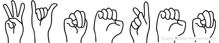 Wyneken im Fingeralphabet der Deutschen Gebärdensprache