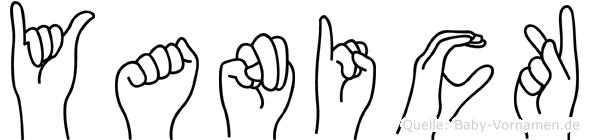 Yanick in Fingersprache für Gehörlose