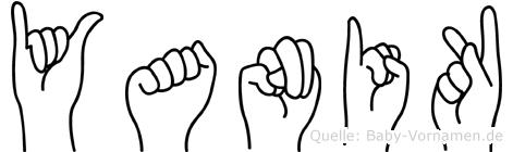 Yanik im Fingeralphabet der Deutschen Gebärdensprache