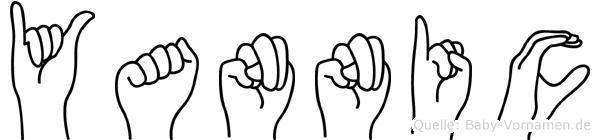 Yannic im Fingeralphabet der Deutschen Gebärdensprache