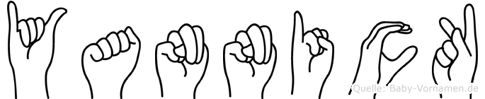 Yannick im Fingeralphabet der Deutschen Gebärdensprache