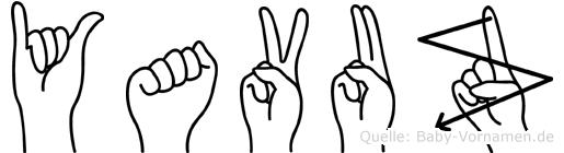 Yavuz im Fingeralphabet der Deutschen Gebärdensprache