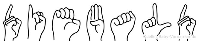 Diebald im Fingeralphabet der Deutschen Gebärdensprache