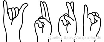 Yuri im Fingeralphabet der Deutschen Gebärdensprache