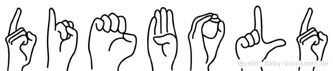 Diebold in Fingersprache für Gehörlose