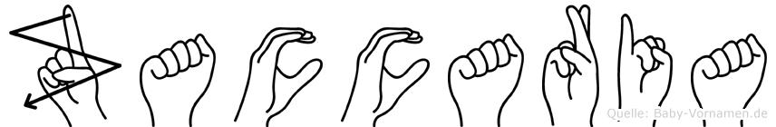 Zaccaria im Fingeralphabet der Deutschen Gebärdensprache