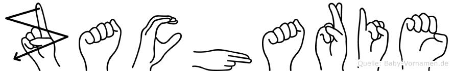 Zacharie in Fingersprache für Gehörlose
