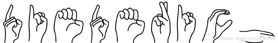 Diederich im Fingeralphabet der Deutschen Gebärdensprache