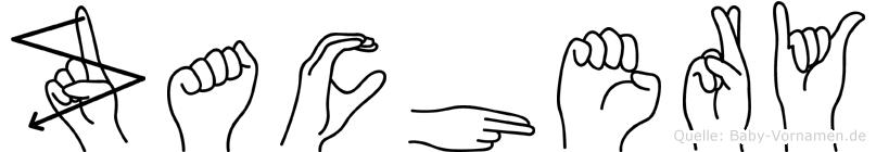 Zachery im Fingeralphabet der Deutschen Gebärdensprache