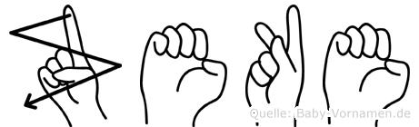 Zeke in Fingersprache für Gehörlose