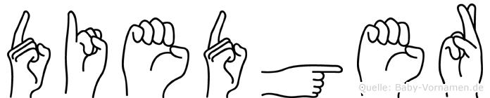 Diedger in Fingersprache für Gehörlose