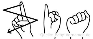 Zia in Fingersprache für Gehörlose