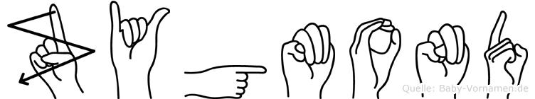 Zygmond im Fingeralphabet der Deutschen Gebärdensprache