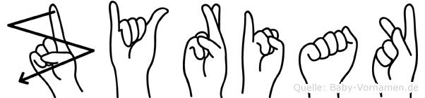 Zyriak in Fingersprache für Gehörlose