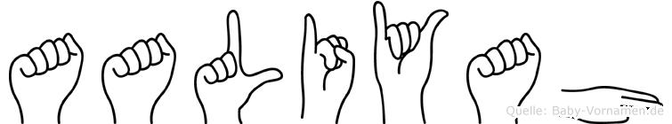 Aaliyah im Fingeralphabet der Deutschen Gebärdensprache