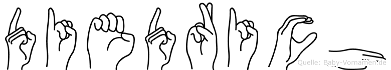 Diedrich in Fingersprache für Gehörlose