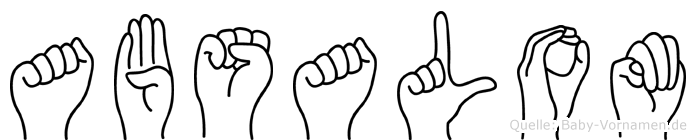 Absalom in Fingersprache für Gehörlose
