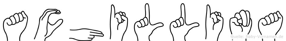 Achillina in Fingersprache für Gehörlose