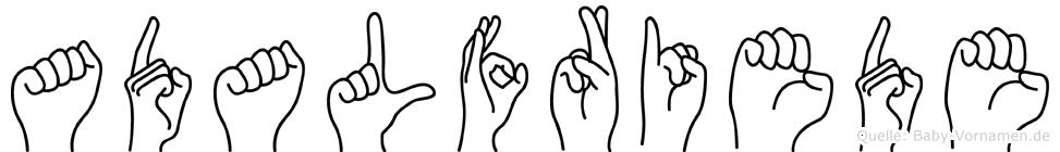 Adalfriede in Fingersprache für Gehörlose