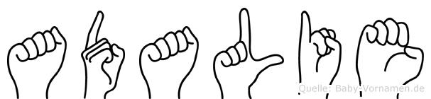 Adalie in Fingersprache für Gehörlose