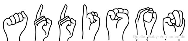 Addison in Fingersprache für Gehörlose