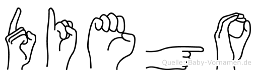 Diego in Fingersprache für Gehörlose