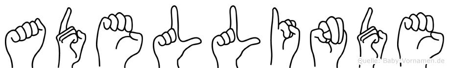 Adellinde in Fingersprache für Gehörlose