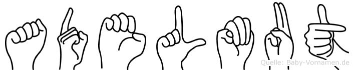 Adelmut im Fingeralphabet der Deutschen Gebärdensprache