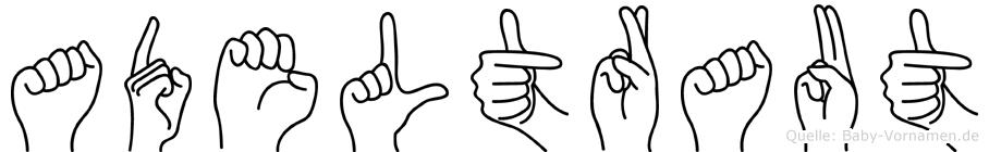 Adeltraut in Fingersprache für Gehörlose