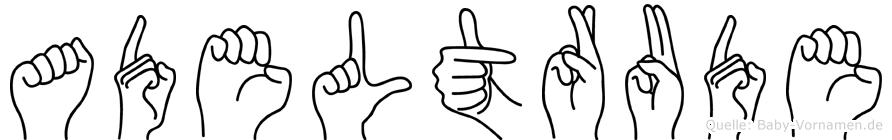 Adeltrude in Fingersprache für Gehörlose