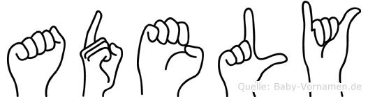 Adely in Fingersprache für Gehörlose