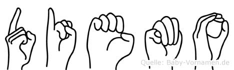 Diemo in Fingersprache für Gehörlose